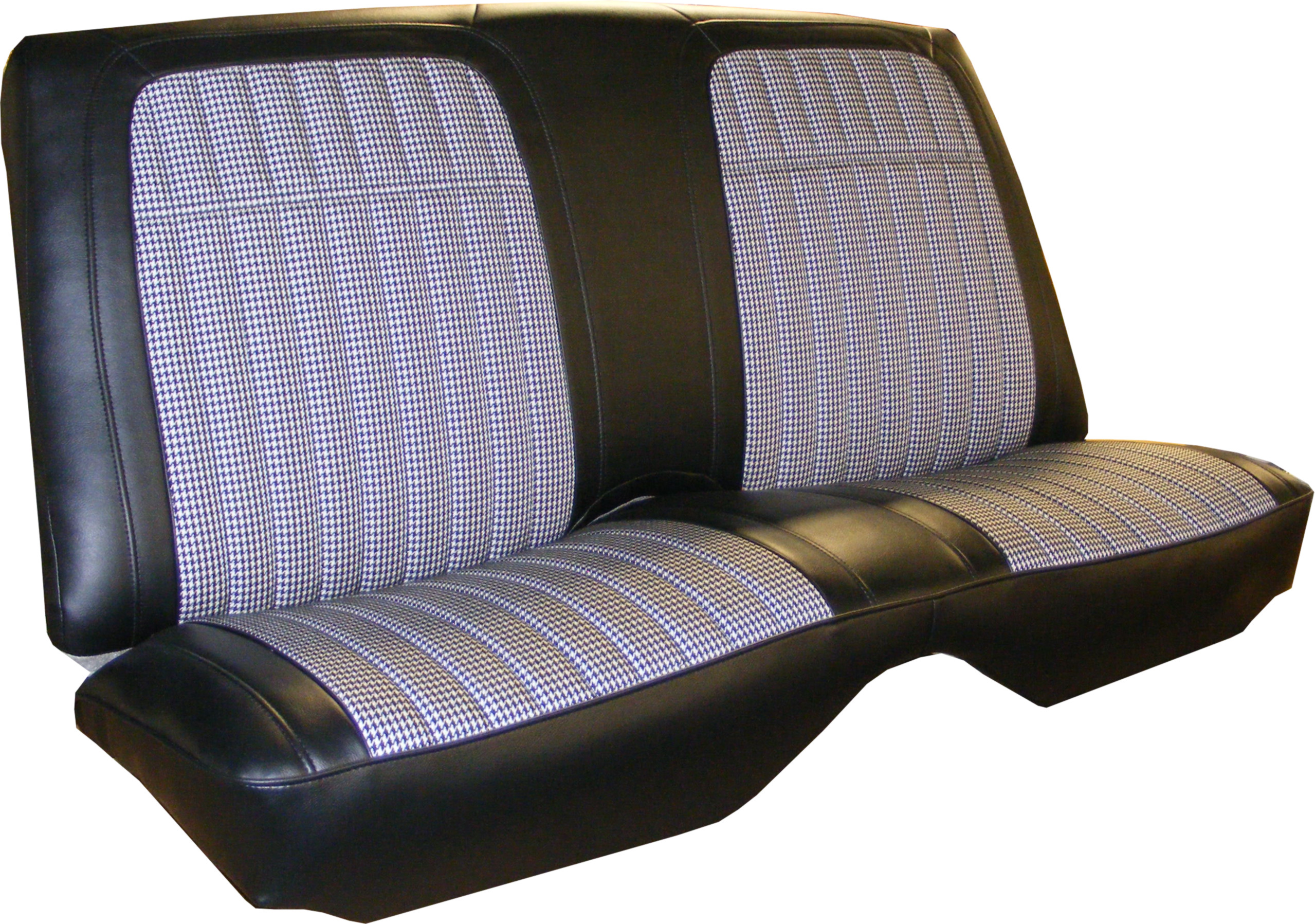 Excellent 1968 Camaro Deluxe Coupe Rear Seat Covers Houndstooth White Vinyl Onthecornerstone Fun Painted Chair Ideas Images Onthecornerstoneorg