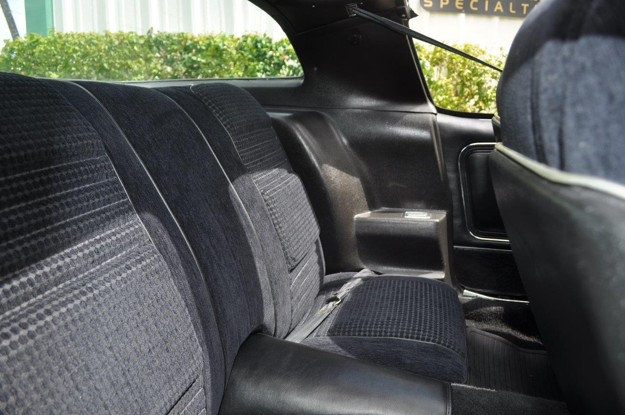 Custom Cloth Coupe Rear Seats Black Firebird 79 80