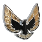 EMBLEM FRONT-GOLD BIRD SE FIREBIRD 74-76