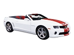 DECAL KIT CONVERTIBLE PACE CAR STYLE RALLY STRIPE SILVER CAMARO 10-13