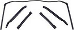 1967-69 FIREBIRD CAMARO BODY CONVERTIBLE ROOF RAIL WEATHERSTRIP SET 5-PC