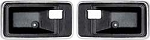 1977-81 FIREBIRD CAMARO INNER DOOR HANDLE ESCUTCHEON-PAIR (BLACK)