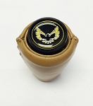 1970-81 AUTO TRANS GEARSHIFT KNOB LEATHER WRAPPED CAMEL