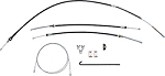 1967 F-BODY PARK BRAKE CABLE KIT (CABLES ONLY)