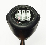 1970-81 MANUAL TRANS GEARSHIFT KNOB LEATHER WRAPPED BLACK