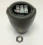 1970-81 MANUAL TRANS GEARSHIFT KNOB LEATHER WRAPPED GRAY