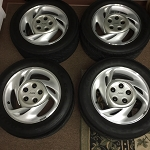 93-94 PONTIAC FORMULA & TRANS AM ALUMINUM WHEEL SET, 16X8
