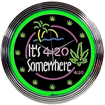 IT'S 4:20 SOMEWHERE NEON CLOCK