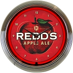 REDDS APPLE ALE NEON CLOCK