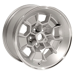 17 X 9 SILVER WHEEL HONEYCOMB ALUMINUM SET OF 4