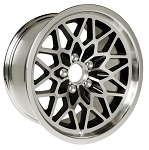 17 X 9 BLACK WHEEL SNOWFLAKE ALUMINUM SET OF 4