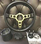 FORMULA STEERING WHEEL COMBO ASSEMBLY BLACK / GOLD FOR SPECIAL EDITION - MORE CORRECT GRIP AND COLOR MATCHING