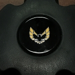 1970-81 Trans AM Horn Buttom Emblem - Gold Bird