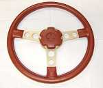 CUSTOM FORMULA STEERING WHEEL + HORN CAP FIRETHORN RED COLOR PONTIAC FIREBIRD TRANS AM