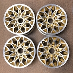 RESTORED 15 X 7 GOLD WHEEL SNOWFLAKE ALUMINUM SET OF 4