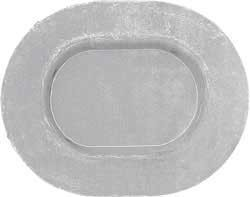 OVAL METAL FLOOR PAN / TRUNK PAN PLUG FIREBIRD CAMARO 67-81