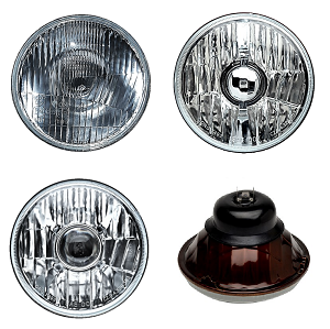 "HEADLAMP LED CONVERSION 5"" 3/4 SAE DOT APPROVED -- 67 - 69 FIREBIRD SET AND MORE"