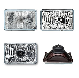 HEADLAMP CONVERSION 4X6 SAE DOT APPROVED -- 77 - 81 FIREBIRD SET AND MORE