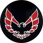1977-83 Firebird Wheel Cap Emblem Red 2-1/8
