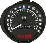 1970-74 Firebird 160 Mph Speedometer With Seat Belt Warning
