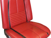 1967 CAMARO DELUXE PRE-ASSEMBLED BUCKET SEATS RED/BLACK-PAIR