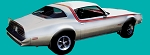 1976-78 Firebird, Esprit, Formula Light Blue / Dark Blue / Black D98 Over Roof Stripe Set