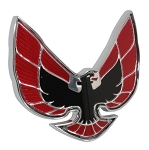 74-76 Firebird Red Front End Panel Emblem