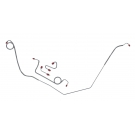1969 Firebird Power Front Drum Brake Line Kit OEM (4 Piece)