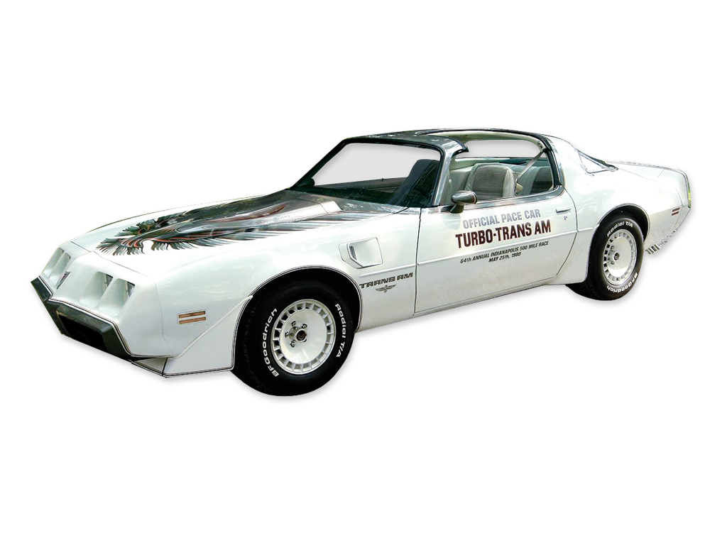 1980 Trans AM Indy Pace Car 5 Color Silver Stripe / Decal Set with Roll Stripes (without Door Decals)