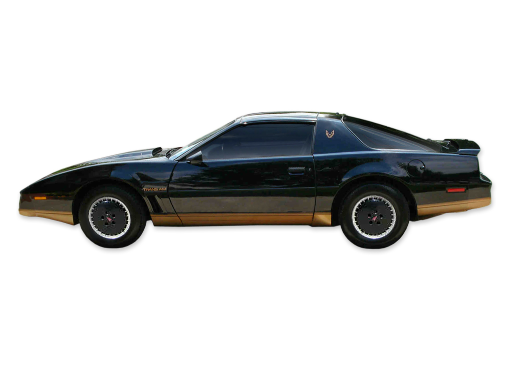 1982 Trans-Am Black Decal and Stripe Set