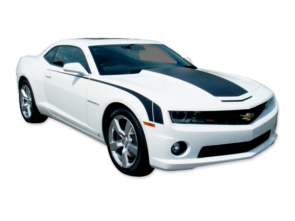 DECAL KIT HOOD & DECK BLACKOUT STRIPE BLACK CAMARO 10-13