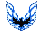 1973-78 Trans-Am Black / Light Blue/ Dark Blue Decal Set (LOOPING BIRD STYLE)