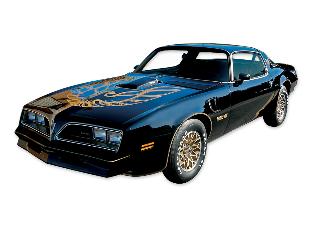 1977-78 Trans Am Special Edition German Style Black / Gold Decal Set with Pre-Molded Stripes