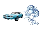 1977-78 Esprit Sky Bird Decal / Stripe Set (BLUE BIRD)