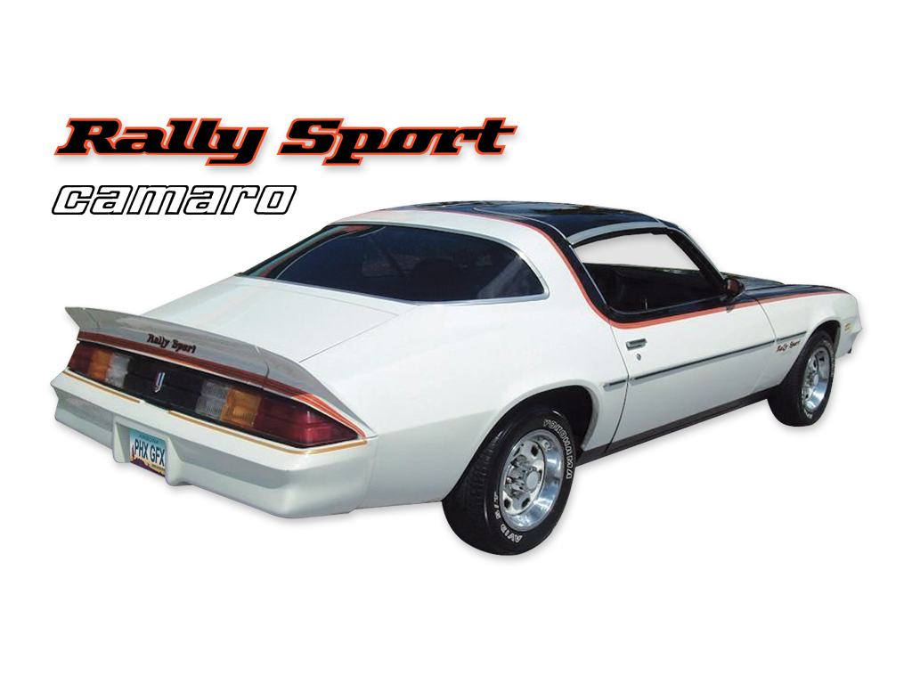 DECAL KIT RALLY SPORT 3 COLOR CAMARO RED 78-79