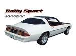 DECAL KIT RALLY SPORT 3 COLOR CAMARO BLUE 78-79