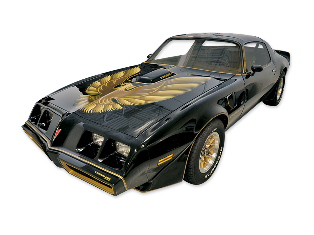 1979 Trans-Am Special Edition Bandit 5 Color Gold Decal Sit with Roll of Stripes