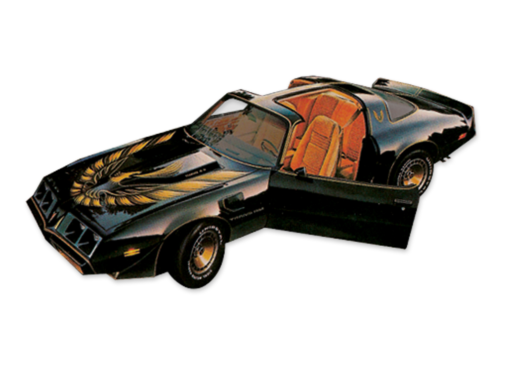 1980 Trans Am Special Edition Bandit Turbo 5 Color Gold Decal / Stripes Set with Pre-Molded Stripes
