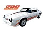 DECAL KIT Z28 RED CAMARO 80-81