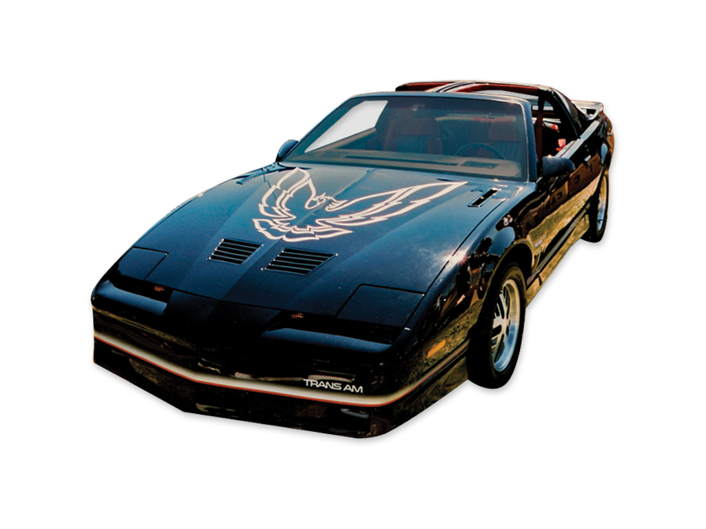1985-86 Trans-Am Silver with Blue Accent Decal / Stripe Set with Large Hood Bird