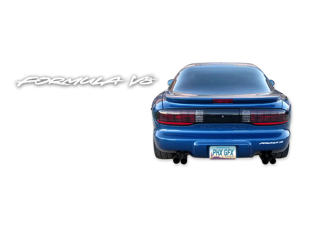 1993-94 Pontiac Formula V8 Decal Kit V8 W/O Door Name (WHITE)