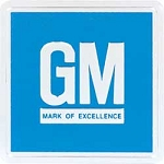 1967-74 GM Mark Of Excellence Emblem Door Decal - Embossed Blue