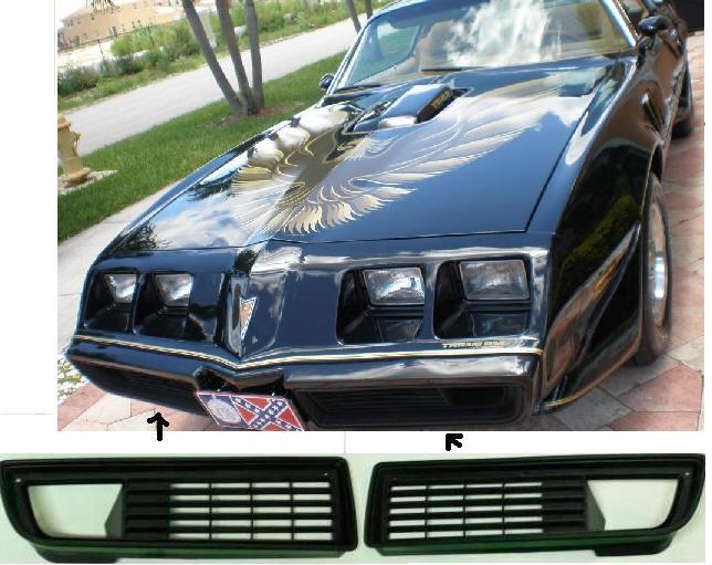 1979-81 Firebird Trans AM Grills Pair