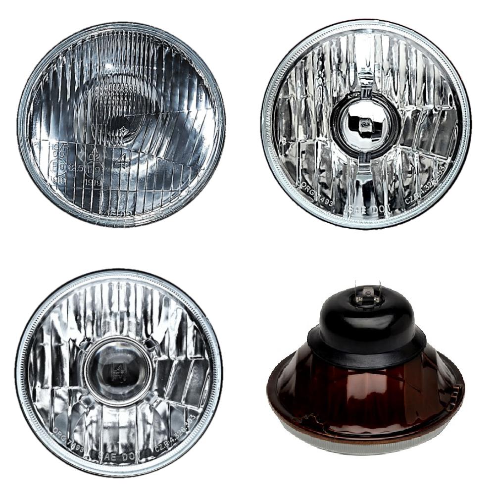 "1968-1971 Pontiac Firebird 5-3//4/"" Tri-Bar H4 Headlight Conversion w// Bulbs Plugs"