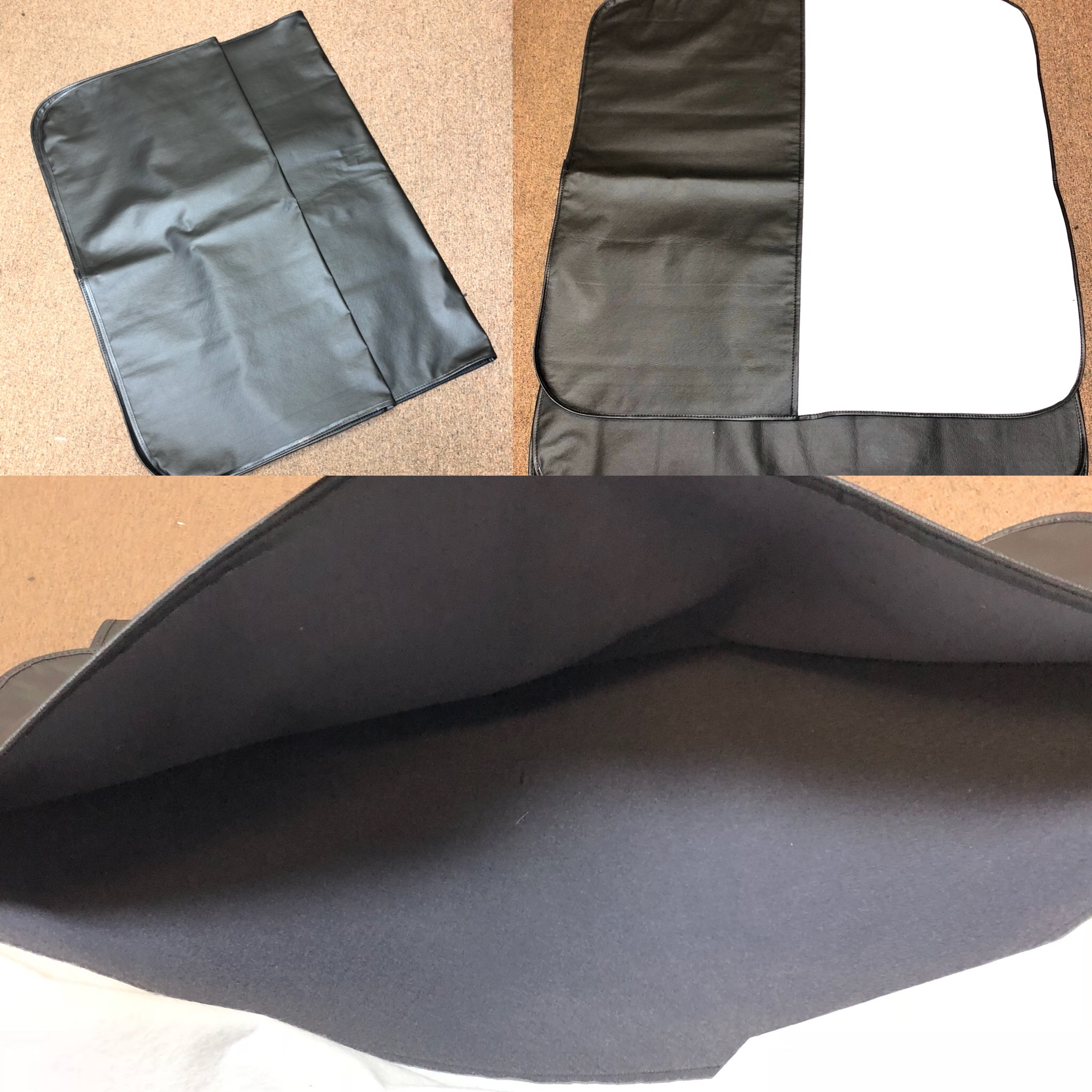 1976-81 FIREBIRD / CAMARO T-TOP STORAGE BAGS BLACK ( Hurst or Fisher )