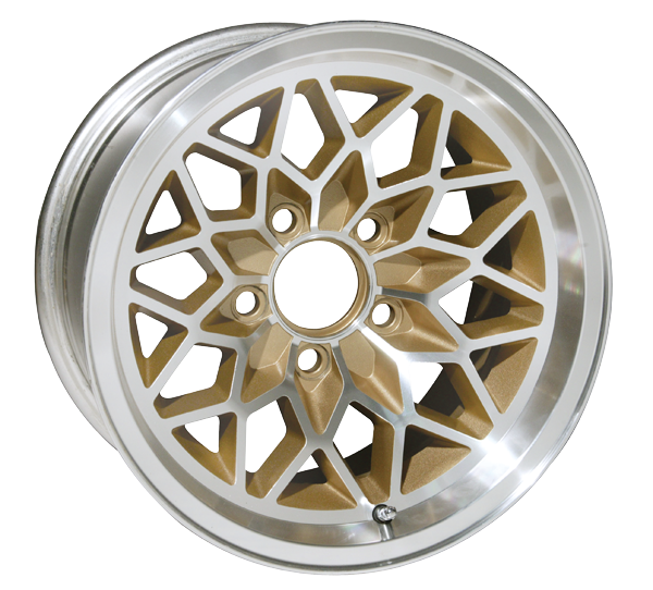 15 X 8 GOLD WHEEL SNOWFLAKE ALUMINUM SET OF 4