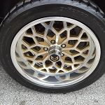 18 X 9 GOLD INSERT POLISHED BILLET ALUMINUM  SNOWFLAKE WHEEL SET OF 4