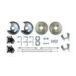 1970-74 F-BODY Rear Disc Brake Conversion Kit with Drilled & Slotted Rotors, Black Powder Coated