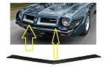 1974-75 Pontiac Firebird and Trans Am TA Upper Bumper Filler