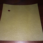 1969 Firebird Coupe Rear Side Panels for Deluxe Interior, Pre-Assembled (PAD) MUSTARD GOLD